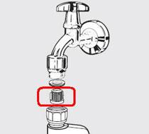 waterinlaat scherm wasmachine